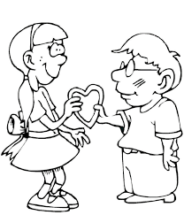 a gift for you valentine coloring page valentine coloring pages