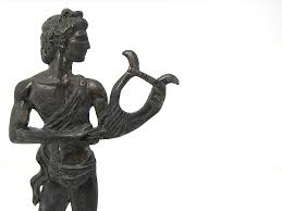 greek mythology statue of god apollo metal sculpture