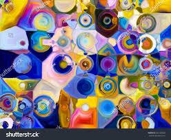 color patterns shards paint series composition color patterns stock illustration
