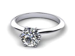 6 prong engagement ring platinum knife edge 6 prong solitaire ring