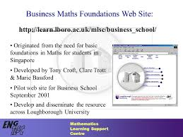 mathematics learning support centre business maths foundations