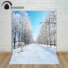 snow decoration christmas winter background white snow road presents