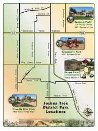 joshua tree california map san bernardino county special districts department parks