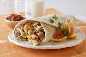 ham and egg breakfast burritos pork recipes pork be inspired
