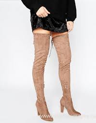 womens thigh high boots canada desire taupe tie back heeled thigh high boots womens