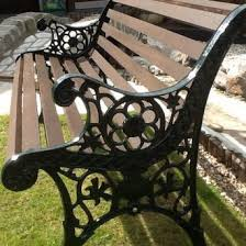 wrought iron bench ends cast iron bench ends second hand garden furniture buy and sell