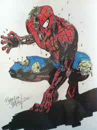 zombie spiderman tony moore repro with color by sampleyb on deviantart