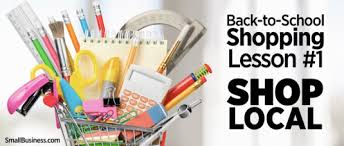 back to school shopping lesson 1 shop local