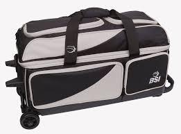 United Bags Cost Amazon Com Bsi Triple Ball Roller Bowling Bag Black Blue