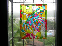 glass painting google search