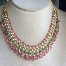 gold beaded necklace india images Fancy gold beaded necklace from anagha jewellery south india jewels jpg