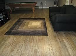 luxury vinyl plank living room modern with concrete subfloor