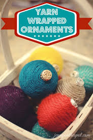 how to make yarn wrapped ornaments and fuzzy ornaments