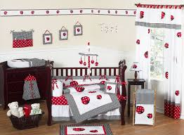 red white black ladybug baby bedding 9pc nursery crib set