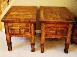 rustic round end table best rustic end tables sets and ideas