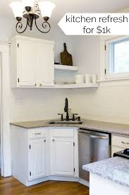 how to fit a kitchen cheaply my small kitchen ideas a cheap kitchen refresh budget