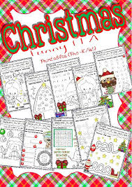 christmas funny worksheets for ela centers pre k 1st grade