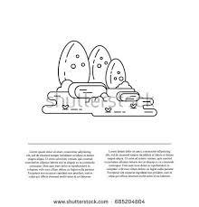 vector flat illustration dinosaur eggs stock vector 685204804