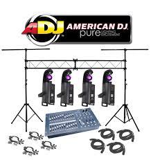 dj lighting truss package american dj lighting 4 inno scan led gobo scanner color light with