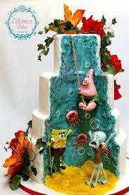 sponge bob cakes between the pages spongebob