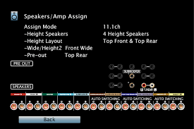 auro 3d home theater system speaker configuration and u201camp assign u201d settings avr x7200wa