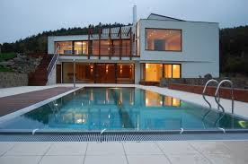 partly cellared modern house different characters inner space