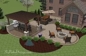 Patio Layouts by Cheap Backyard Patio Design Downloadable Plan U2013 Mypatiodesign