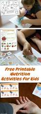 printable nutrition activities for kids nutrition activities