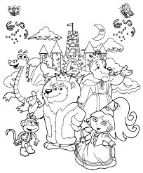 dora the explorer coloring pages dora and friends