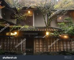 traditional japanese house kibune near kyoto stock photo 75744397