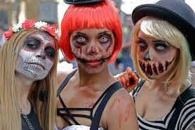 day of the dead zombie halloween mask zombies u0027 in rio groan lurch at tourists along copacabana news 1130
