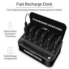 amazon com chargetech battery pack dispenser dock w 6