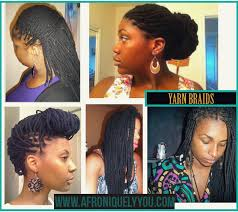 hairstyles for yarn braids protective styling yarn braids afroniquely you blogazine