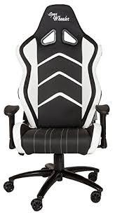 Gaming Chair Rocker Openwheeler Leather White Racing Style Gaming Chair Premium