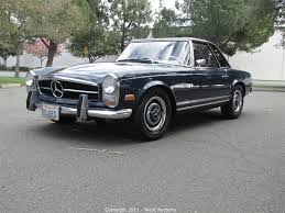 california hardtop auctions auction 1968 mercedes 250 sl california