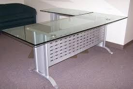 desk l light bulbs l shaped glass desks best of futura desk with adjustable for idea 13