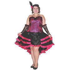 Size Burlesque Halloween Costumes Deluxe Burlesque Cabaret Showgirl Saloon Costume Size 16