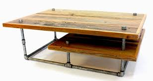 Industrial Style Coffee Table Reclaimed Barn Wood And Galvanized Pipes Become Industrial Style