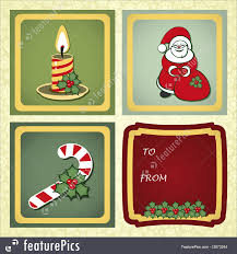 christmas labels illustration