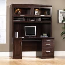 Armoire With Glass Doors Office Port Hutch With Glass Doors 408292 Sauder