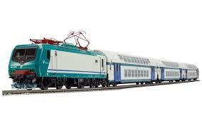 carrozze treni set trenitalia e464 579 3 carrozze 2 piani con pilota fs cod