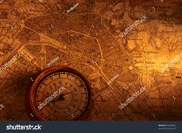 Map With Compass Old Map Paris Compass Stock Photo 33433882 Shutterstock