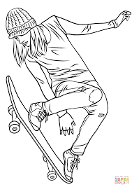 skateboard coloring pages eson me