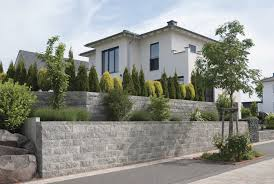 Steine Fur Gartenmauer Vertica Mauer Rustica Grau Anthrazit Trädgård Pinterest