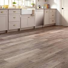 Home Depot Trafficmaster Laminate Flooring Allure 6 In X 36 In Brushed Oak Taupe Luxury Vinyl Plank