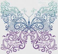 purple blue green butterfly cross stitch pattern