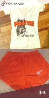 Hooters Costume Halloween Hooters Shorts U0026 Bundle Stockings Stains