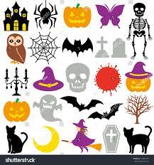 halloween icons stock vector 115337731 shutterstock