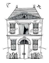 printable spooky house haunted house coloring markholland co