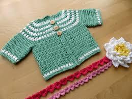 crochet baby sweater pattern cluster yoke baby cardigan my day creative